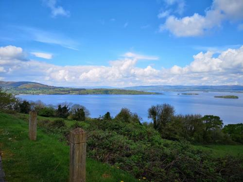 Outlook over Lough Derg to see co. Clare